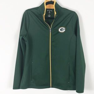 Antigua Green Bay Packers Semi-Fitted Jacket Med